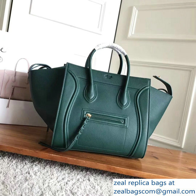 celine grained calfskin phantom luggage green