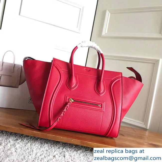 celine grained calfskin phantom luggage red/black
