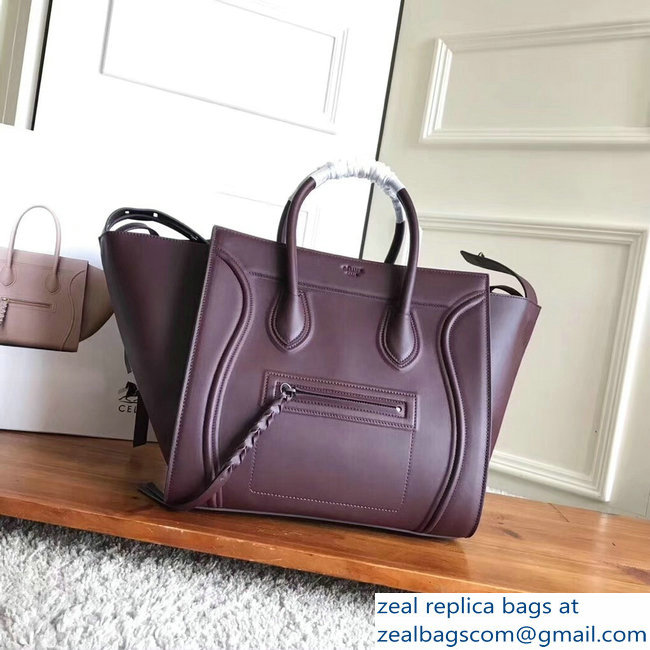 celine smooth calfskin phantom luggage burgundy