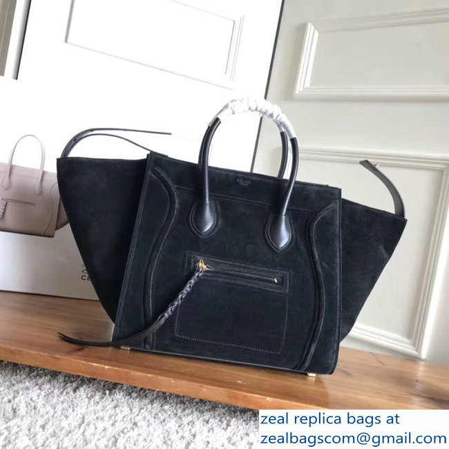celine suede phantom luggage black