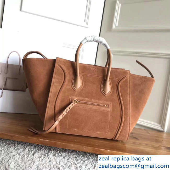 celine suede phantom luggage brown