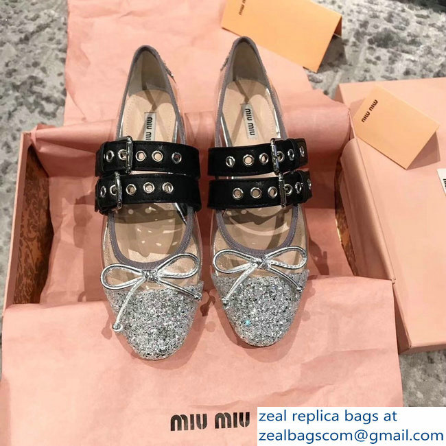 miu miu pvc Ballerinas flats with crystals