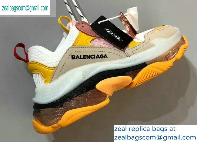 Balenciaga Triple S Clear Sole Trainers Multimaterial Sneakers 02 2019