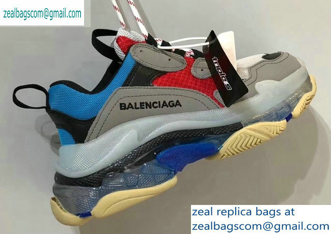 Balenciaga Triple S Clear Sole Trainers Multimaterial Sneakers 03 2019