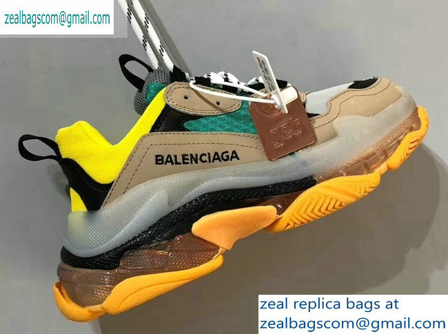 Balenciaga Triple S Clear Sole Trainers Multimaterial Sneakers 04 2019