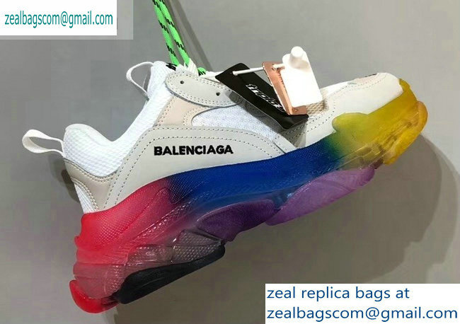 Balenciaga Triple S Clear Sole Trainers Multimaterial Sneakers 06 2019
