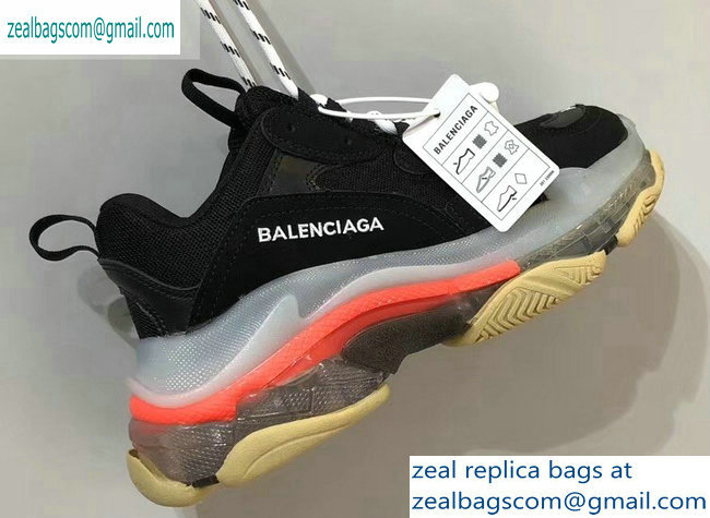 Balenciaga Triple S Clear Sole Trainers Multimaterial Sneakers 07 2019