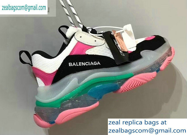 Balenciaga Triple S Clear Sole Trainers Multimaterial Sneakers 08 2019
