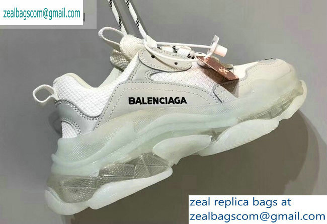 Balenciaga Triple S Clear Sole Trainers Multimaterial Sneakers 11 2019