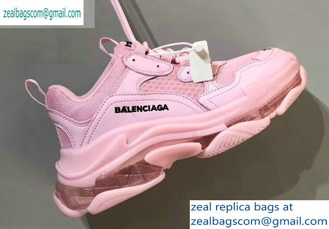 Balenciaga Triple S Clear Sole Trainers Multimaterial Sneakers 12 2019