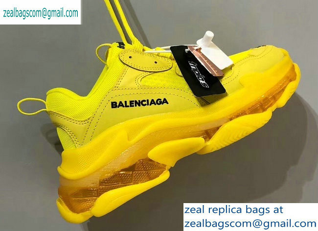 Balenciaga Triple S Clear Sole Trainers Multimaterial Sneakers 13 2019
