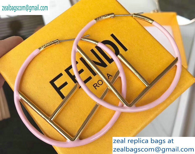 Fendi F Is Fendi Hoop Earrings Pink