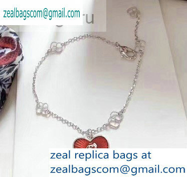 Gucci Red Heart Bracelet