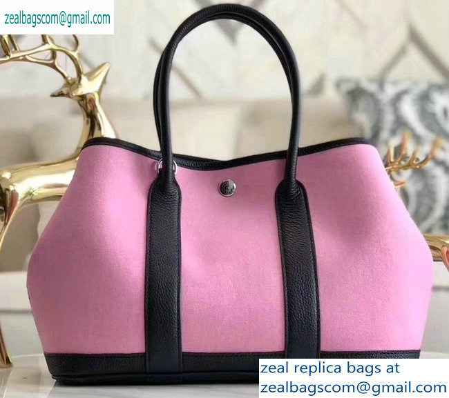 Hermes Canvas Garden Party 30/36 Bag Pink