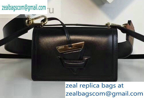 Loewe Boxcalf Barcelona Small Bag Black with Two Shoulder Strap