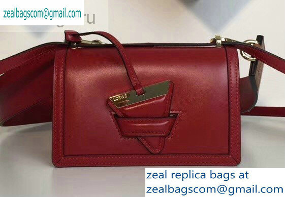 Loewe Boxcalf Barcelona Small Bag Dark Red with Two Shoulder Strap