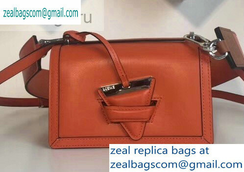 Loewe Boxcalf Barcelona Small Bag Orange with Two Shoulder Strap