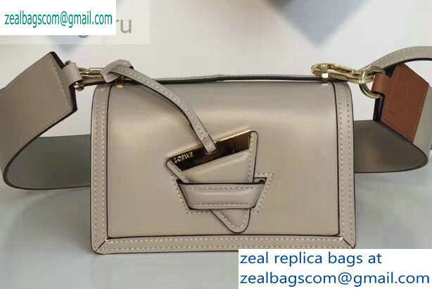 Loewe Boxcalf Barcelona Small Bag Pale Gray with Two Shoulder Strap