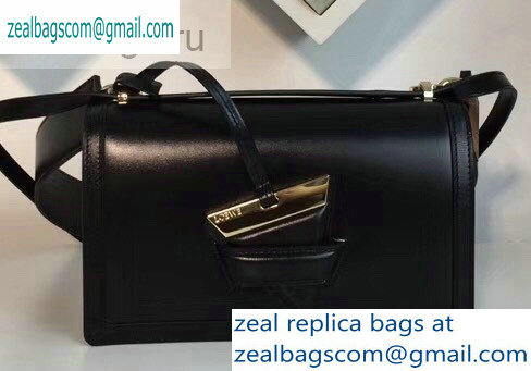 Loewe Boxcalf Bolso Barcelona Bag Black with Two Shoulder Strap