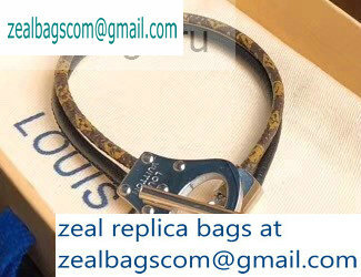 Louis Vuitton Archive Double Leather Bracelet Black