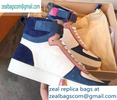 Louis Vuitton Boombox Sneakers Boots Blue 2019