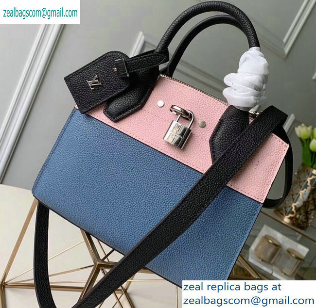 Louis Vuitton City Steamer Mini Tote Bag Black/Blue/Pink