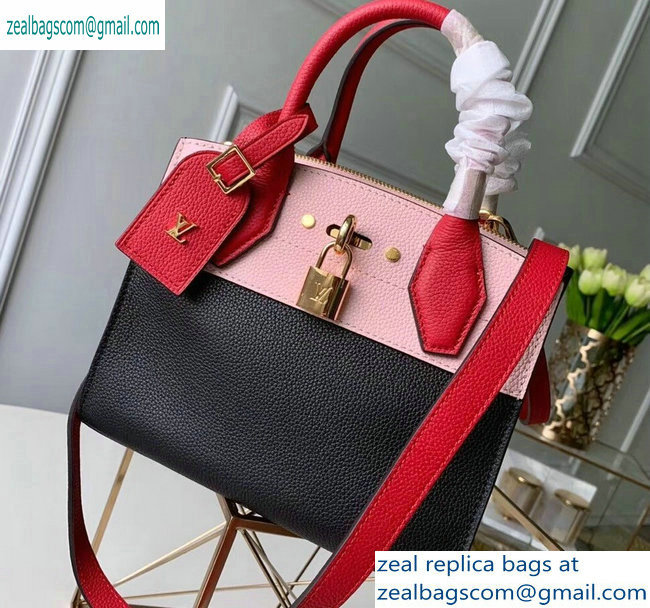 Louis Vuitton City Steamer Mini Tote Bag Black/Pink/Red