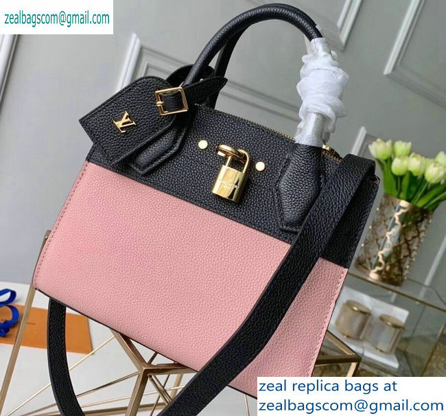 Louis Vuitton City Steamer Mini Tote Bag Black/Pink