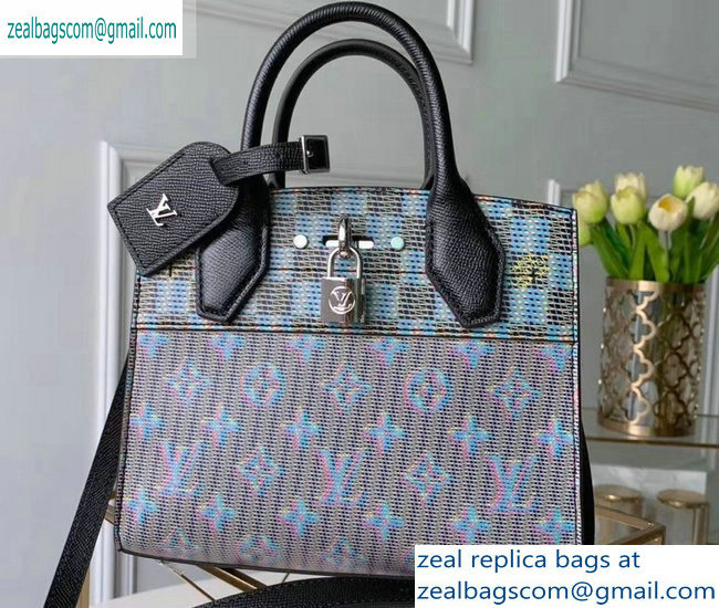 Louis Vuitton City Steamer Mini Tote Bag M55469 Monogram LV Pop Blue