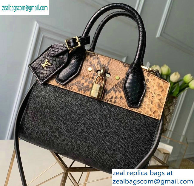 Louis Vuitton City Steamer Mini Tote Bag N96097 Python/Black