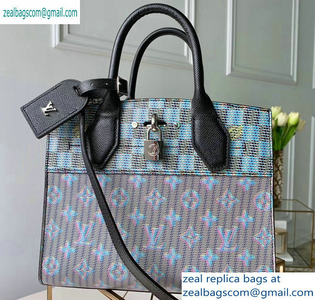 Louis Vuitton City Steamer PM Tote Bag Monogram LV Pop Blue