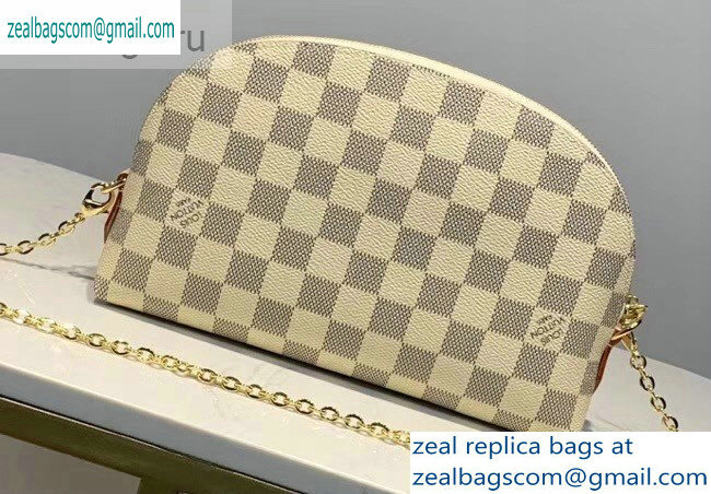 Louis Vuitton Cosmetic Pouch GM Bag M47353 Damier Azur Canvas