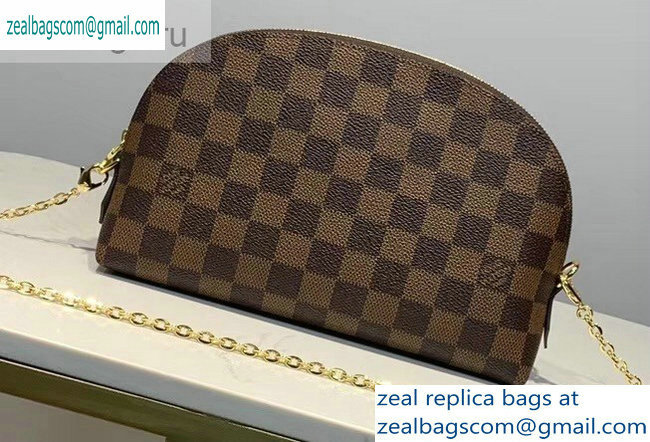 Louis Vuitton Cosmetic Pouch GM Bag M47353 Damier Ebene Canvas