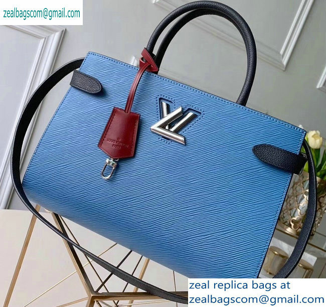 Louis Vuitton Epi Leather Twist Tote Bag M52873 Bleu Jean