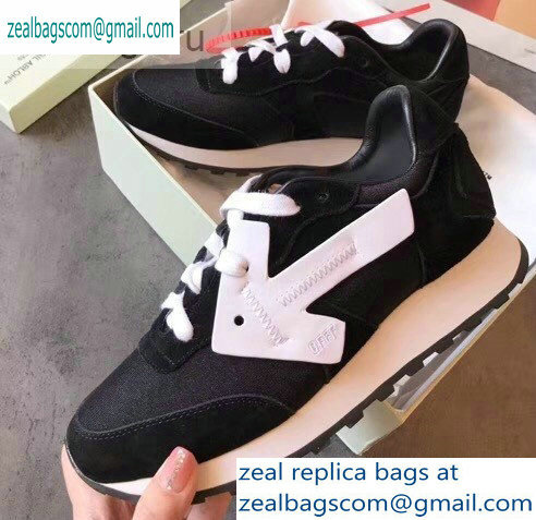 Off-White Hg Runner Low-Top Suede Sneakers Black 2019