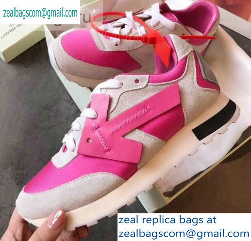 Off-White Hg Runner Low-Top Suede Sneakers Fuchsia 2019