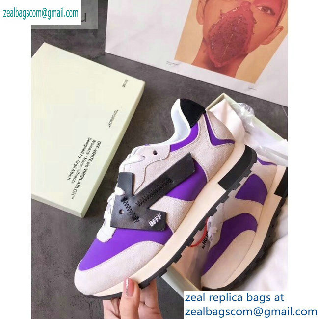 Off-White Hg Runner Low-Top Suede Sneakers Purple 2019