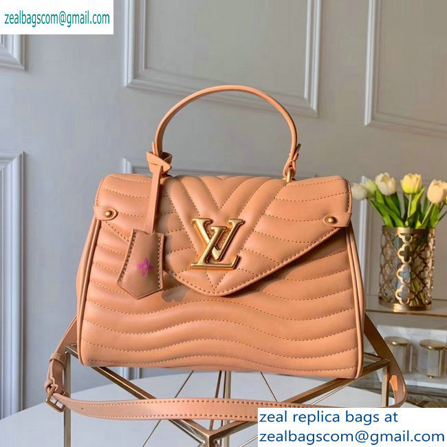 louis vuitton new wave top handle bag nude pink