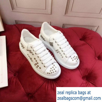 Alexander McQueen Oversized Sneakers White with Studs 2019