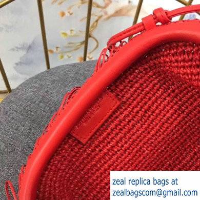 Bottega Veneta The Sponge Pouch 20 Clutch Bag with Strap Red 2019 - Click Image to Close