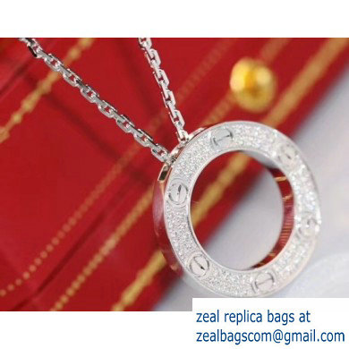 Cartier Round Necklace White Gold