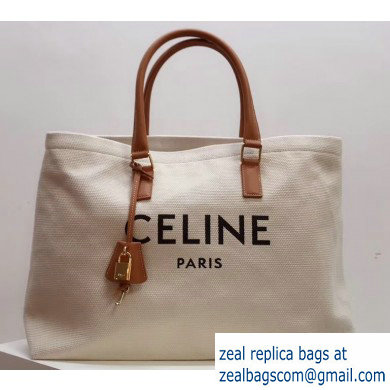 Celine Horizontal Cabas Canvas Large Tote Bag 2019