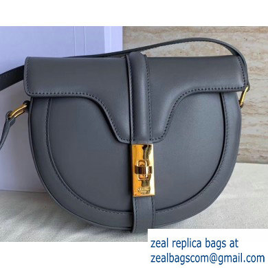 Celine Small Besace 16 Bag in Satinated Calfskin Gray 2019