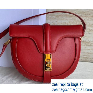 Celine Small Besace 16 Bag in Satinated Calfskin Red 2019