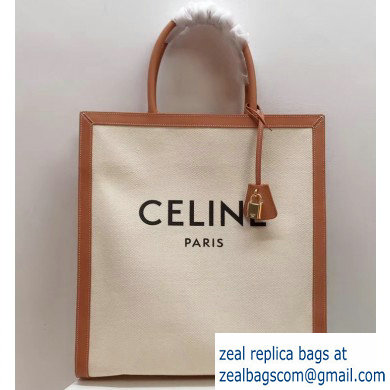 Celine Vertical Cabas Canvas Large Tote Bag 2019