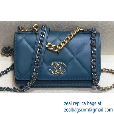 Chanel 19 Wallet on Chain WOC Bag AP0957 Turquoise 2019