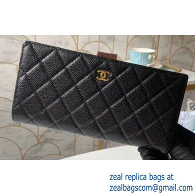 Chanel Classic Pouch Clutch Bag 70528 in Grained Calfskin Black/Gold