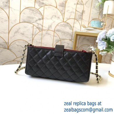 Chanel Clutch with Chain Bag 48230 in Grained Calfskin Black