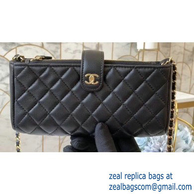 Chanel Clutch with Chain Bag 48230 in Lambskin Black