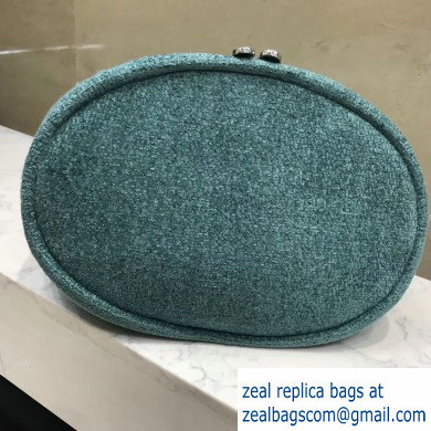 Chanel Deauville Canvas Small Drawstring Bag AS1045 Green 2019